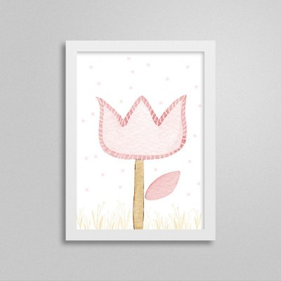 Quadro decorativo Sweet Baby Girl - Flores 1