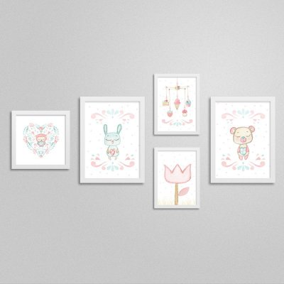 Quadros decorativos Sweet Baby Girl - Kit 1