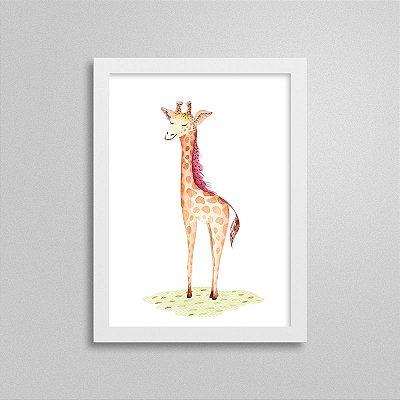 Quadro Bichinho Fofinho - Girafa Brincando