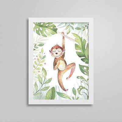 Quadro Bichinho Fofinho - Macaco Pulando