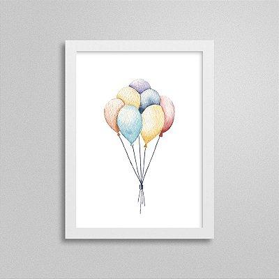 Quadro Infantil Balões e Diversão
