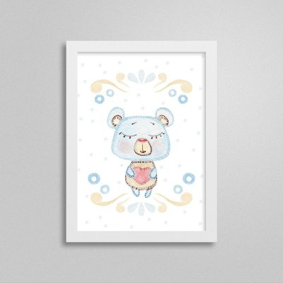 Quadro decorativo Sweet Baby Boy - Ursinho