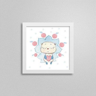Quadro decorativo Sweet Baby Boy - Leãozinho e Maçãs