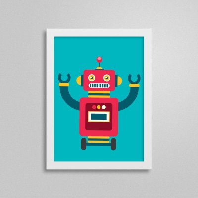 Quadro Robô Quarto de Menino - T2