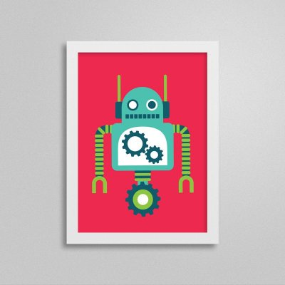 Quadro Robô Quarto de Menino - T4