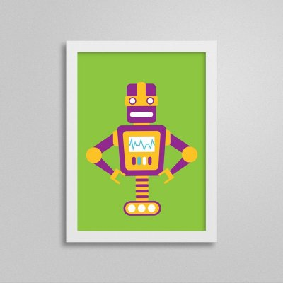 Quadro Robô Quarto de Menino - T5
