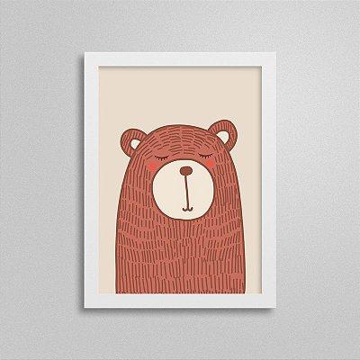 Quadro Bichinho - Urso - Quarto de Bebê