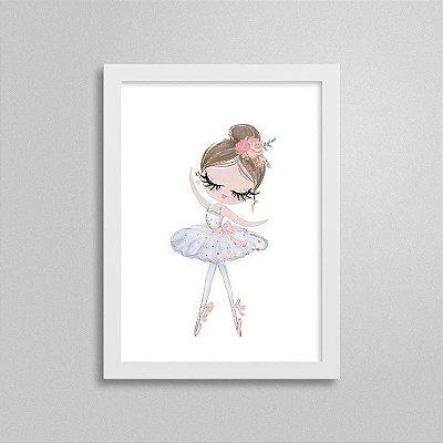 Quadro Ballet Cisne Branco - Bailarina
