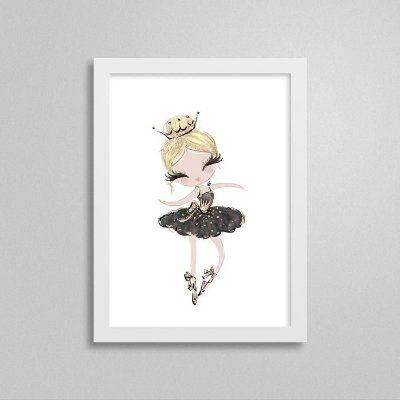 Quadro Ballet Cisne Negro - Bailarina