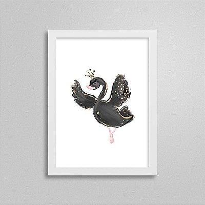Quadro Ballet Cisne Negro - Decorativo