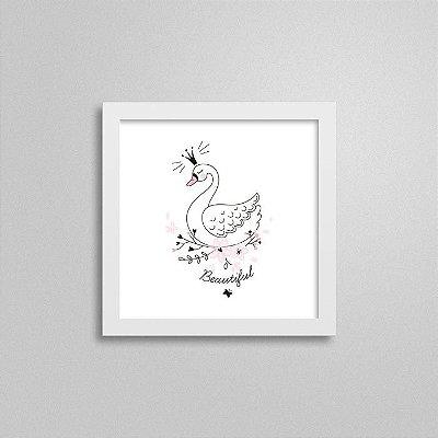 Quadro Balé Quarto de Bebê - Cisne