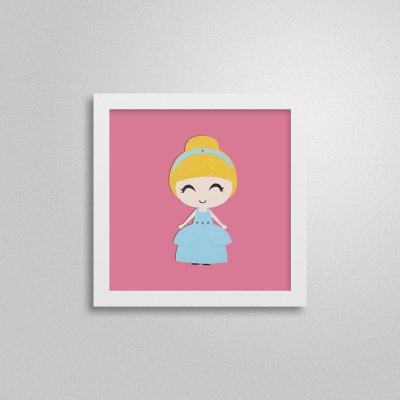 Quadro Decorativo Infantil - Princesa