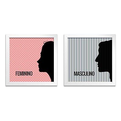 Quadro para Banheiro – Feminino e Masculino
