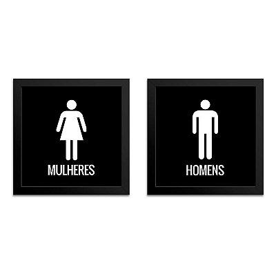 Quadro para Banheiro – Homem e Mulher