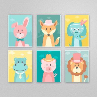 Ilustração para imprimir - quadro quarto infantil - M9