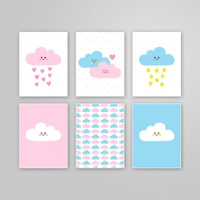 Ilustração para imprimir - quadro quarto bebê - M10