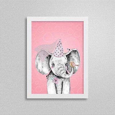 Quadro Quarto de Menina Safari - Elefante