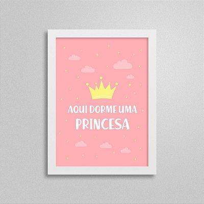Quadro Aqui Dorme uma Princesa