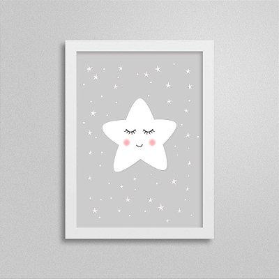 Quadro Estrela Decoração Quarto Infantil