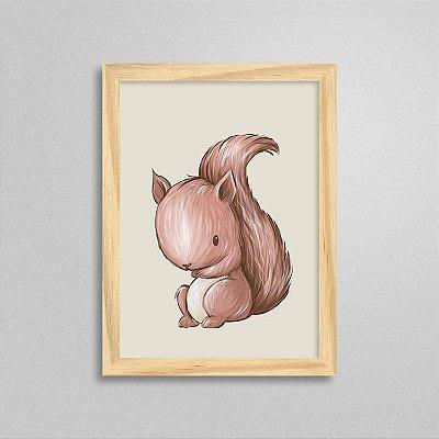 Quadro Bichinho Fofo - Esquilo