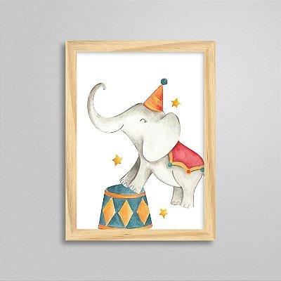 Quadro Elefante - Tema Circo