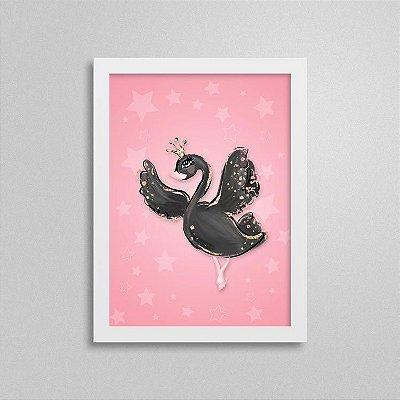 Quadro Balé e Bailarina - Cisne Negro