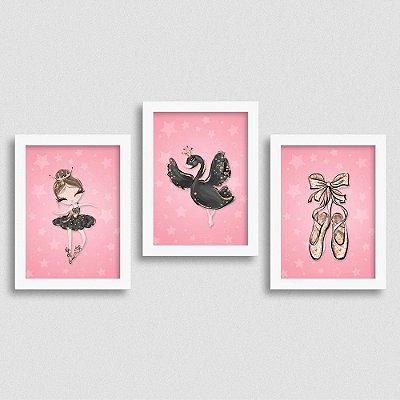 Quadro Balé e Bailarina - Kit Black Swan 2