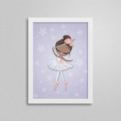 Quadro Balé e Bailarina - White Swan 3