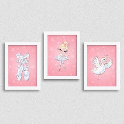 Quadro Balé e Bailarina - Kit White Swan 1