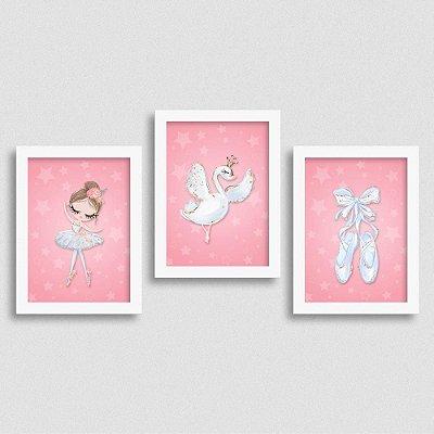 Quadro Balé e Bailarina - Kit White Swan 2