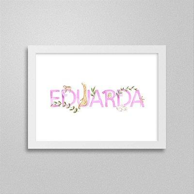 Quadro nome Eduarda