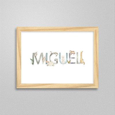 Quadro nome Miguel
