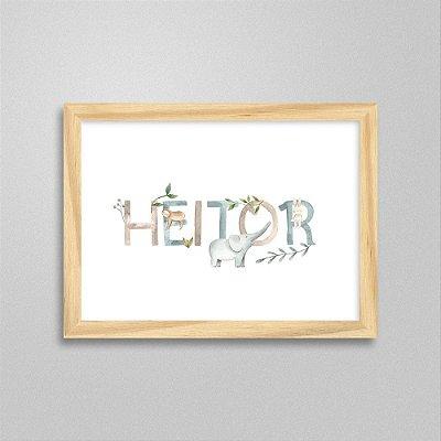 Quadro nome Heitor