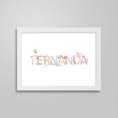 Quadro nome Fernanda