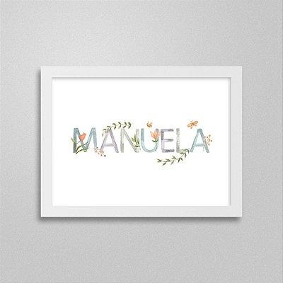 Quadro nome Manuela