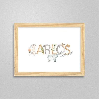 Quadro nome Carlos