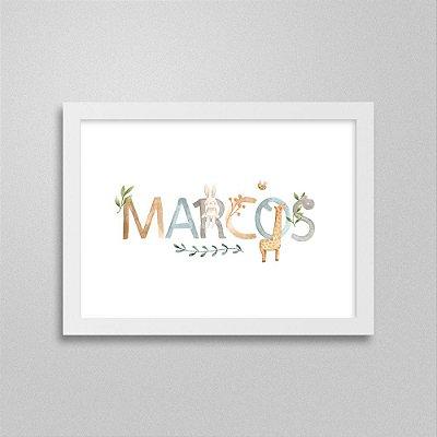 Quadro nome Marcos