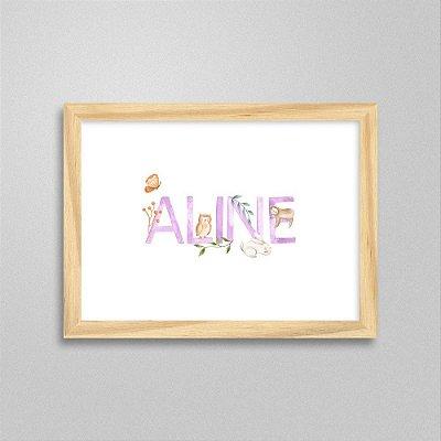 Quadro nome Aline