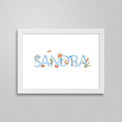Quadro nome Sandra
