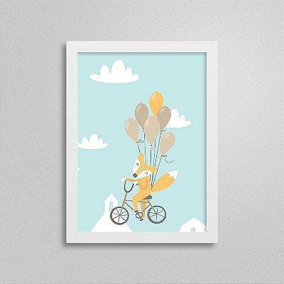 Quadro Aventura e Diversão - Bicicleta