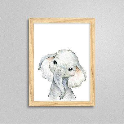 Quadro Filhote de Elefante - Decoração Quarto de Bebê