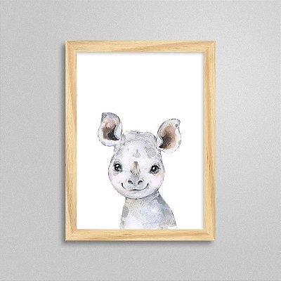 Quadro Filhote de Rinoceronte - Decoração Quarto de Bebê