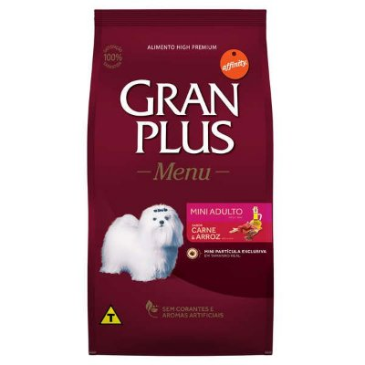 Ração Affinity PetCare Gran Plus Menu Carne e Arroz para Cães Adultos Mini