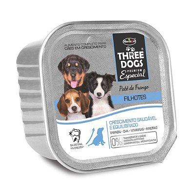 Patê Hercosul Three Dogs Para Cães Filhotes Sabor Frango