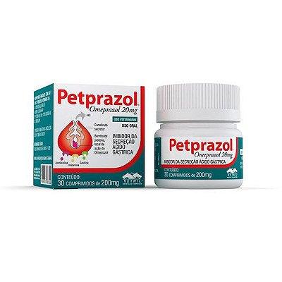 Omeprazol Para Cães E Gatos Petprazol Vetnil - 20mg - 30 Comprimidos