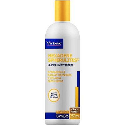Shampoo Dermatológico Virbac Hexadene Spherulites para Cães e Gatos 250ml