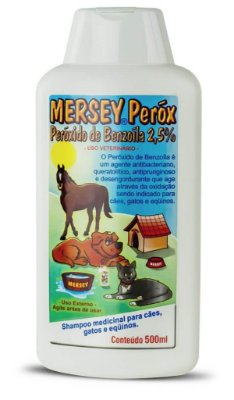 Mersey Perox Cães Gatos e Equinos 500ML