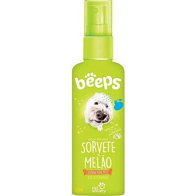 Deo Colônia Beeps Body Splash Pet Society Sorvete de Melão