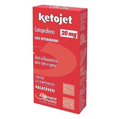 Anti-inflamatório 10 Comprimidos Agener União Ketojet 20mg