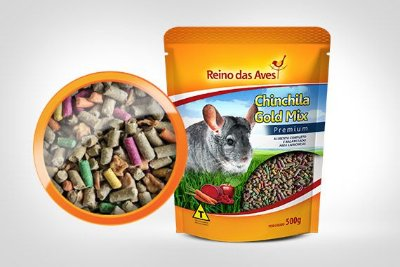 REINO DAS AVES ROEDORES CHINCHILA GOLD MIX 500G - UN